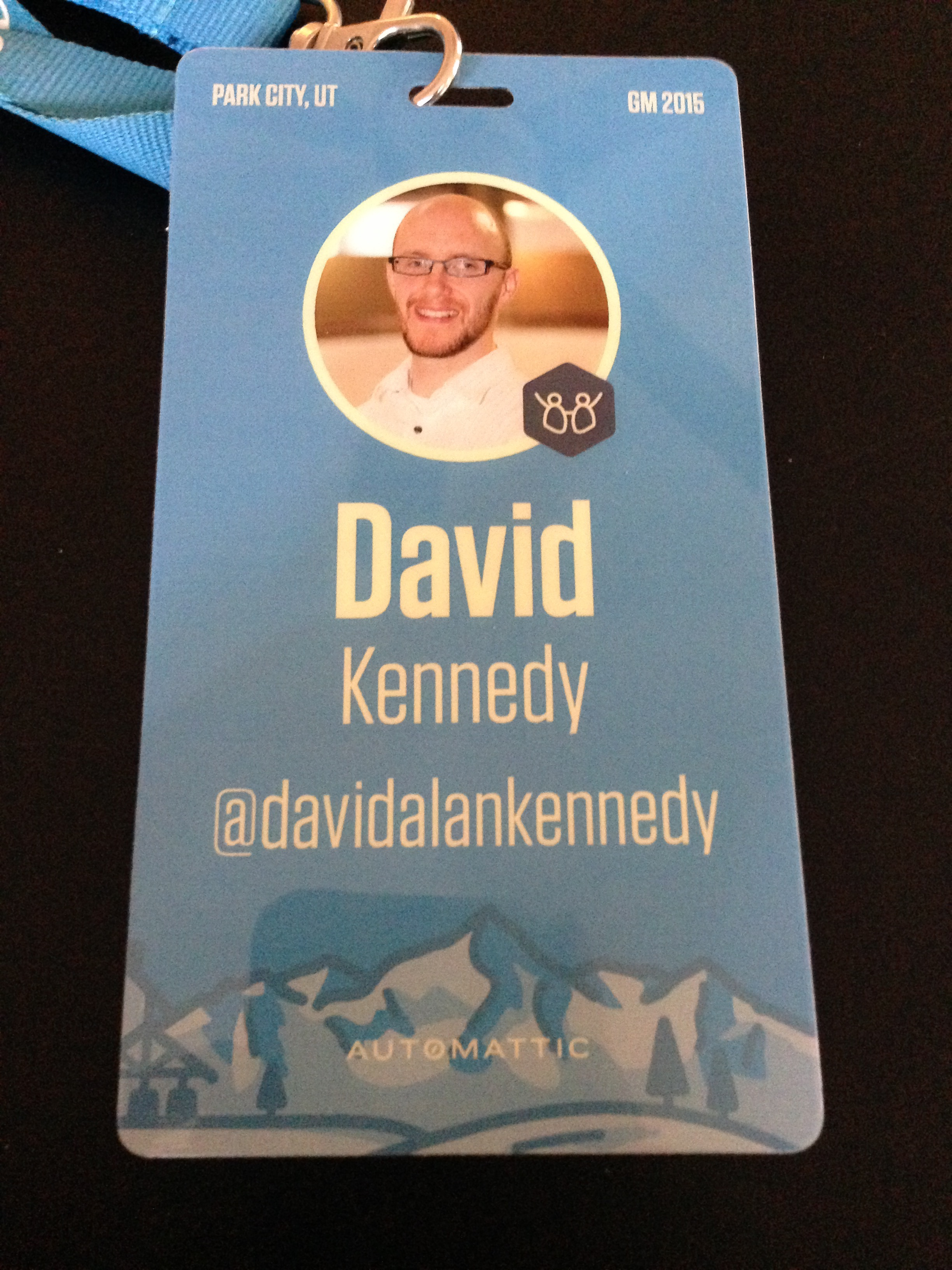 Automattic Grand Meetup 2015 conference badge